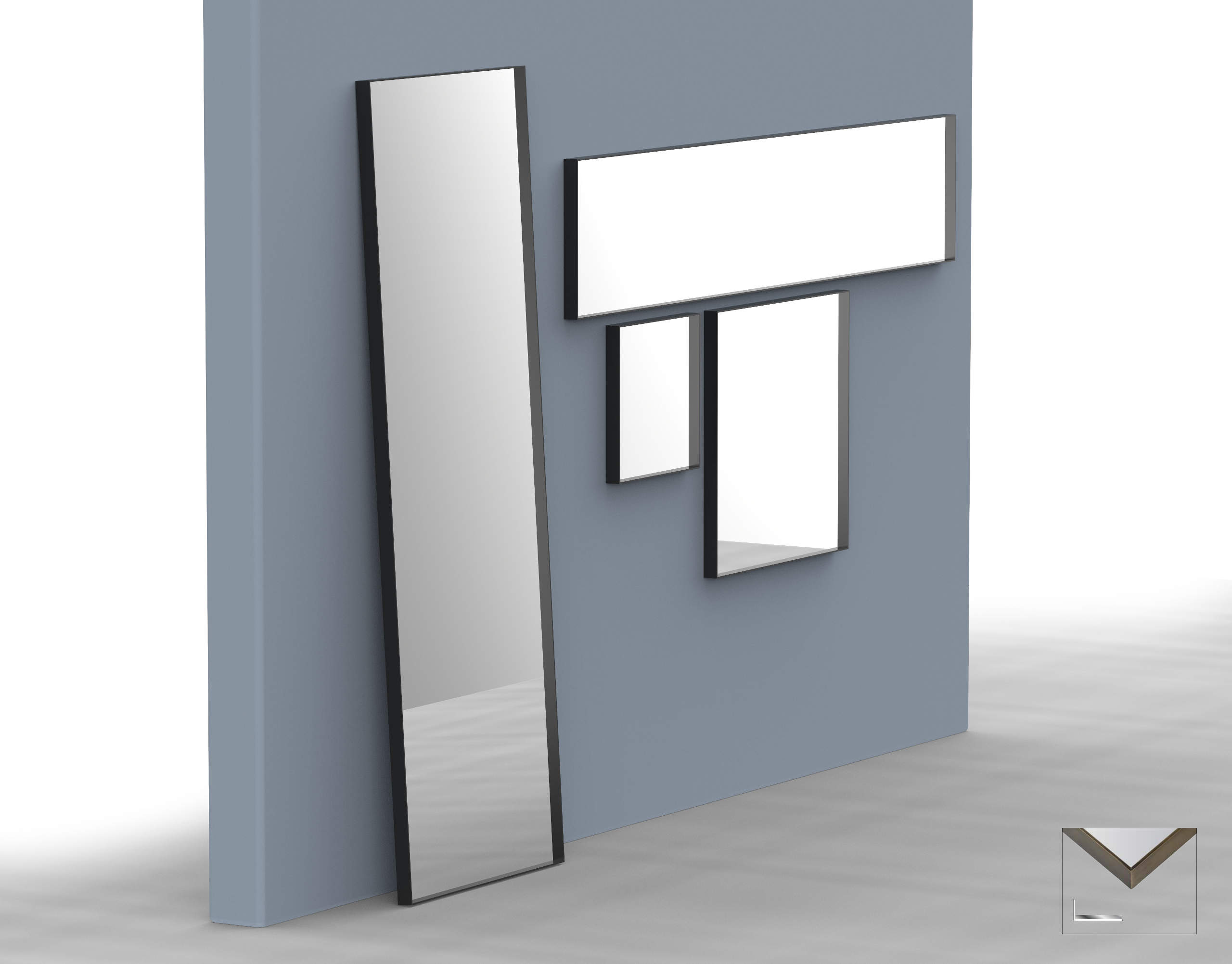 Albedo Design MINI Mirror with metal linear frame