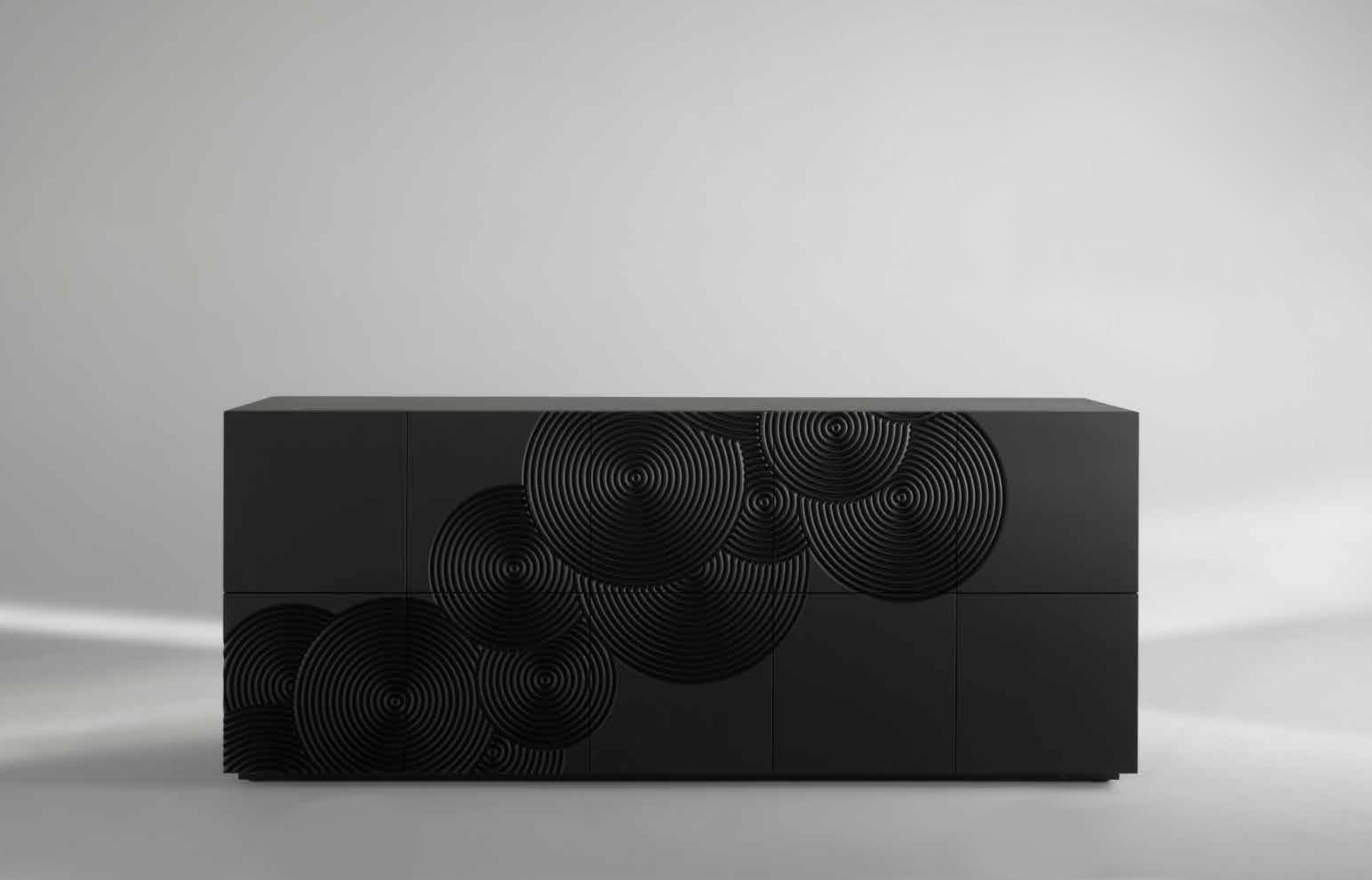 GONG_2 Sideboard 10 doors black by Albedo Design